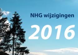 Wijzigingen NHG per 1 januari 2016